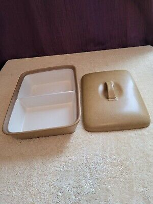 Vintage Retro Denby Ode Mustard Yellow Ironstone Vegetable Serving Dish With Lid • 14.99£