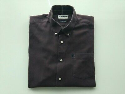 Men's Red/ Burgundy Barbour Tailored Fit Shirts Size M, Chest Size 42 In. • 14£