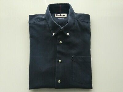 Men's Blue Barbour Tailored Fit Shirts Size M, Chest Size 40 In. • 14£