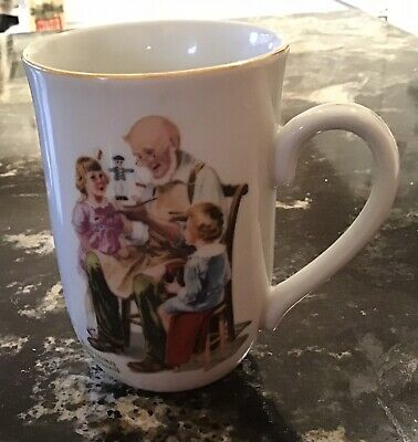 $ CDN1.26 • Buy Norman Rockwell The Toymaker Mug Coffee Cup 1982 Museum Seal Of Authenticity