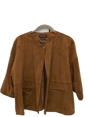 AU75 • Buy Massimo Dutti Leather Jkt * Size L 'gorgeous'