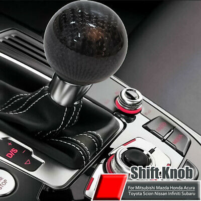 AU23.99 • Buy Carbon Fiber 5 6 Speed MT Fit Manual Transmission Gear Shift Knob Shifter Black