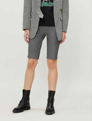 Ex TOPSHOP Boutique High-Rise Skinny Leather Shorts  UK 12  US 8  EUR 40(TS75-3) • 35£