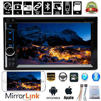 $130.99 • Buy Car Stereo Bluetooth SD Radio 2 Din CD DVD Player Mirror Link For GPS Navigation