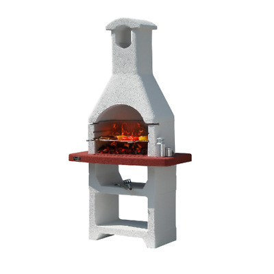 £633.13 • Buy Cayman Charcoal Barbecue In Refractory Concrete Masonry With Hood And Grill