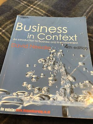 Business In Context By David Needle (Electronic Book Text, 2007) • 5£