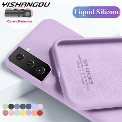 AU7.99 • Buy Shockproof Silicone Cover Slim Case For Samsung S21 S20 Ultra FE 5G S10 S9 Plus