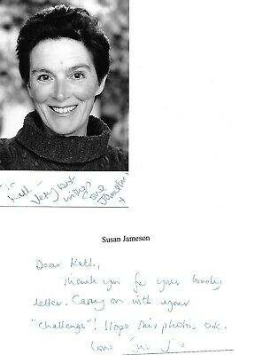 Susan Jameson Hand Signed Photo & Message Holby Heartbeat Doctors Casualty • 9£