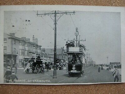 The Parade ,Gt. Yarmouth , Norfolk - Posted 1905 (Tram & Horse Carriage ) • 3.50£