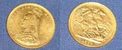Queen Victoria 1889 22 CT Gold Full Sovereign • 375£