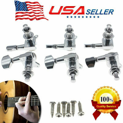 $10.99 • Buy 3L+3R Best Guitar Tuners Tuning Pegs Machine Heads For Electric Acoustic