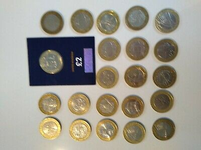 £2 Pound Rare Job Lot Coins Good Collection Possible Mistakes • 60£