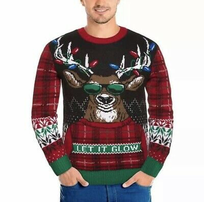 $13.95 • Buy Michael Gerald Men's Novelty Sweater Red Ugly Christmas Sweater XL