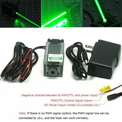 AU198.79 • Buy 520nm 1W Focusable Green Laser Dot Module Engraving And Cutting TTL W12V Adapter
