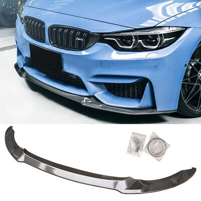 $299.99 • Buy Front Bumper Lip Splitter For 2015-20 BMW F80 M3 F82 F83 M4 Carbon Look CS Style
