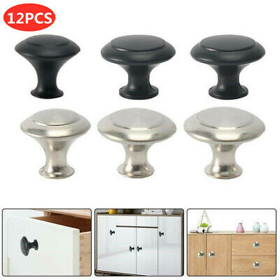 12Pcs Door Knobs Stainless Steel For Kitchen Cabinet Handle Cupboard Drawer DIY  • 5.09£