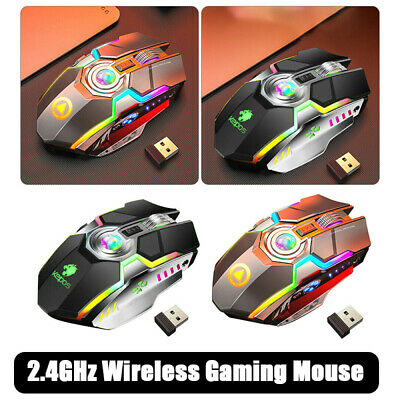 AU11.38 • Buy Mini LED Wired Wireless Gaming Mouse G80 RGB USB Ergonomic Optical For PC Laptop