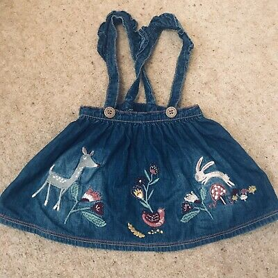 Baby Girl Next Denim Skirt With Harness 3-6 Months  • 1£