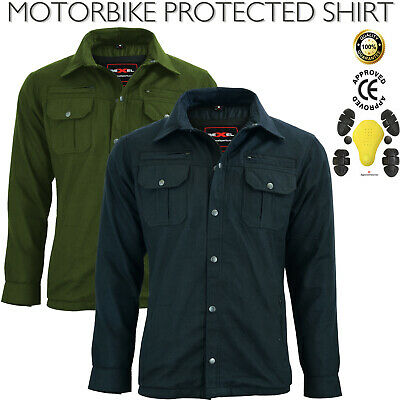 New Mens Motorcycle Motorbike Protective Shirt CE Armoured Protection For Bikers • 39.99£