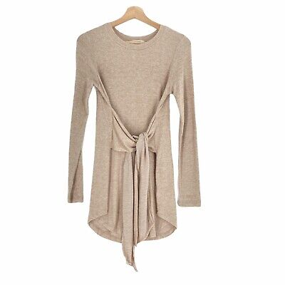 $ CDN24.61 • Buy Anthropologie Pure + Good Size XS Tunic Brushed Knit Tie Front Tunic Tan Cream