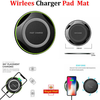 $ CDN8.73 • Buy QI Wireless Charger Fast Charging Pad For Apple IPhone 11 Pro X XR XS Max 12 UK
