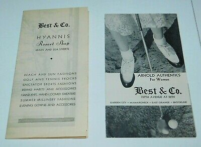 £12.42 • Buy 1930's Best & Co. Women's Clothing & Shoes Brochures With Cape Cod Map