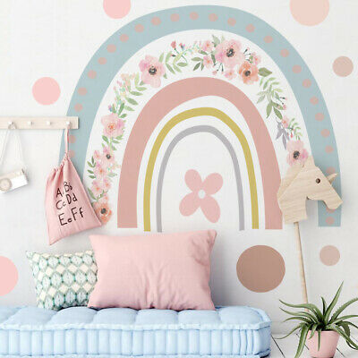Rainbow PVC Wallpaper Sticker Self Adhesive Heaven Wall Stickers For Kids Rooms • 8.55£