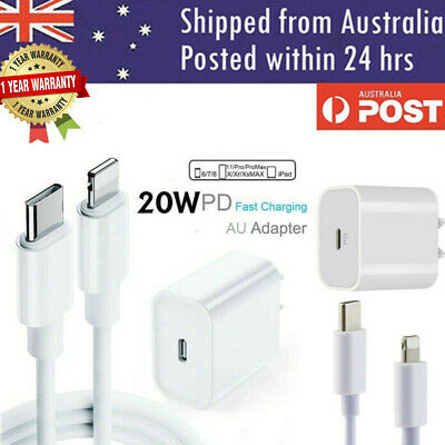 AU16.99 • Buy 20W USB Type-C Wall Adapter Fast Charger PD Power For IPhone 12 11 Pro Max IPad