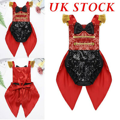 £9.99 • Buy UK Baby Girls Kids Ringmaster Circus Romper Costume Bow Fancy Dress Up Outfit