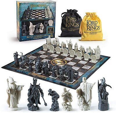 £59.95 • Buy Official Lord Of The Rings Lotr Collectors Full Size Chess Set New Board Game