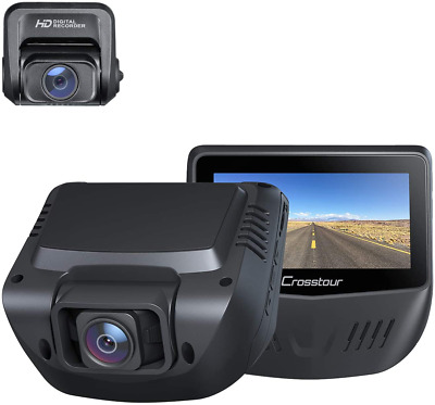AU173.10 • Buy Dual Dash Cam, Front And Rear 1080P Dash Camera For Cars, Optional Gps, 170° Wi