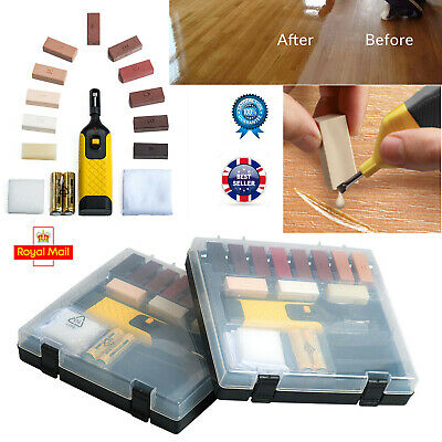 19pc Laminate Floor / Worktop Repair Kit Wax System Sturdy Case Chips Scratches • 11.78£