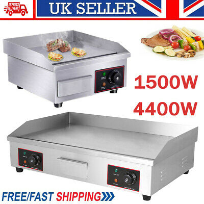 £195.98 • Buy Commercial Electric Griddle Kitchen Large Hot Plate Countertop BBQ Grill Egg UK