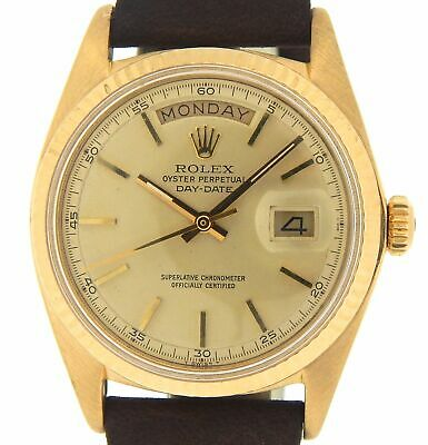 $ CDN10670.44 • Buy Mens Rolex Day-Date President 18K Yellow Gold Watch Champagne Dial Brown 1803