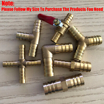 £3.59 • Buy Brass Pipe Fitting Barbed Hose Tail Joiner Tubing Connector Air Water Fuel Gas