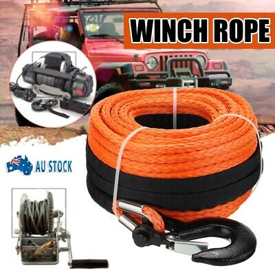 AU84.99 • Buy Winch Rope 10mm X 30m Dyneema SK75 Synthetic Rope Tow Recovery Offroad 4x4