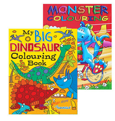 £4.99 • Buy DINOSAUR MONSTERS KIDS GIRLS BOYS CHILDRENS ACTIVITY A4 Colouring Book Books FUN