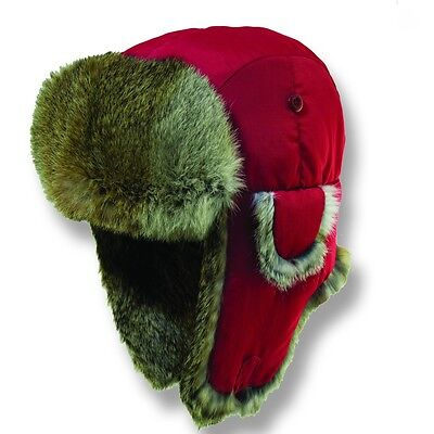 $ CDN37.96 • Buy Woolrich * Red Trooper Hat * L * Supreme Quality Winter Bomber Trapper Snow Ski