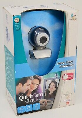 Logitech Quickcam Video Chat Web Cam Skype Headset Included - NEW • 7.20£
