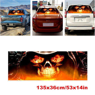 $19.70 • Buy Vinyl Flaming Skull Rear Window Decal Large Graphic Sticker Fit For Car Truck