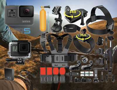 $ CDN289.57 • Buy NEW GoPro HERO 5 Black Edition Touch-Screen Camera + 40 PCS Sports Accessories