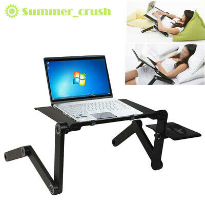 Adjustable Laptop Table Computer Desk Notebook Cooling Stand With Mouse Pad UK • 13.89£