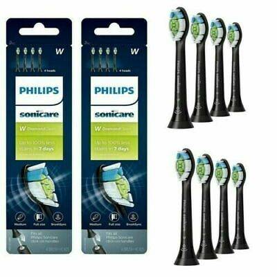 AU33.57 • Buy 8X Philips Sonicare W Diamond Clean Replacement Toothbrush Head -BLACK- 8 Pieces