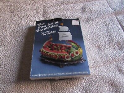 £8.85 • Buy The Fine Art Of Garnishing-Book And Five-5-Tools Of The Trade-Jerry Crowley-1984
