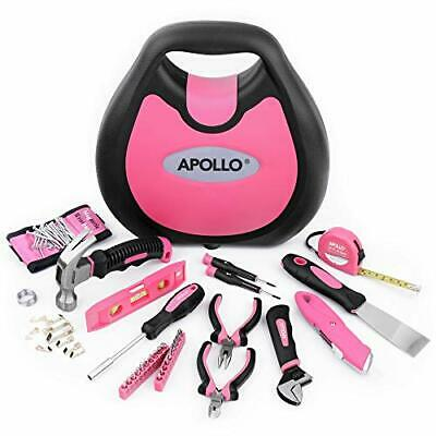 Apollo 72 Piece Home DIY Ladies Pink Tool Kit Set In A Handbag Case. All Purpose • 39.99£