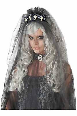 Dead Bride Wig Witch Zombie Halloween Costume Accessory Adult Women 70957 • 7.46£