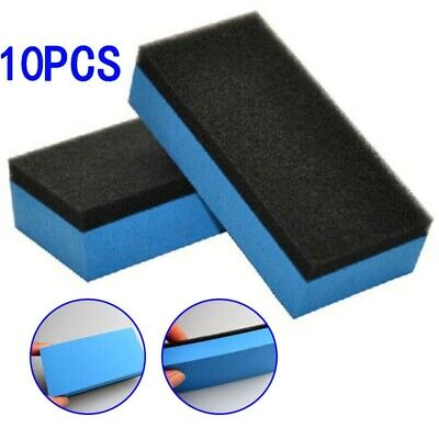 $8.62 • Buy Car Ceramic-Coating Sponge Nano Wax Coat Applicator Glass Polishing Detailing*10