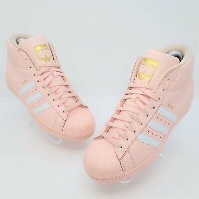 £25.32 • Buy Adidas Womens Originals Pro Model Ice Pink Gold Shell Toe Shoes Size US 5 CQ0621