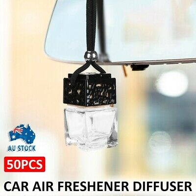 AU45.99 • Buy 50pcs Home Car Hanging Air Freshener Perfume Fragrance Diffuser Glass Bottle Au