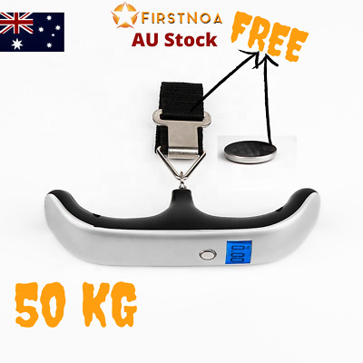 AU14.47 • Buy NEW Electronic Portable Digital Luggage Scale Travel 50 KG Weight Weighing  AU